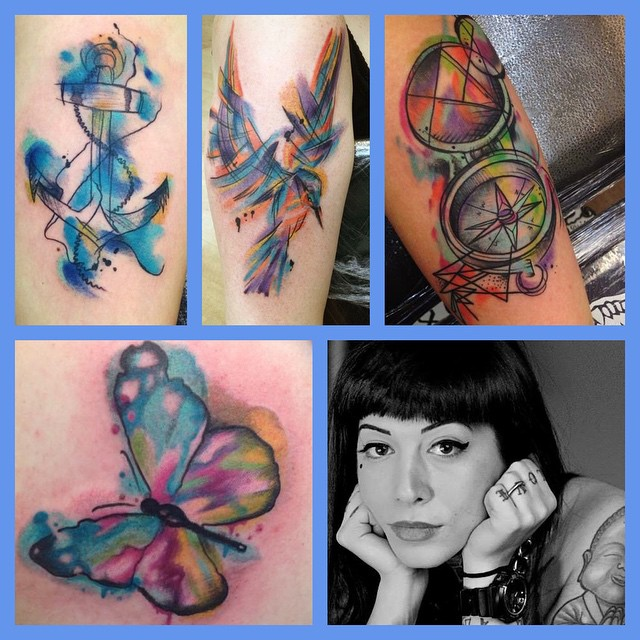 August 6th - watercolour tattoo day only - with artist Noemi Sorrentino - get involved! @naiomitattoo femaleartist edinburghtattoo colourtattoo studioxiiigallery