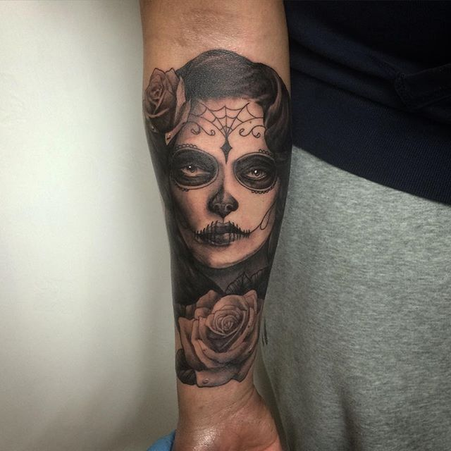 Day Of The Dead Girl Tattoos Designs