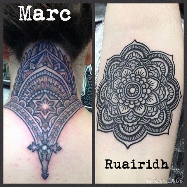 Precision tattooing by @marcd4life and @rvltattoo mandala patternwork blackandgreytattoo blackandgreyallday mandalatattoo @studioxiiigallery edinburghtattoostudio edinburghtattoo