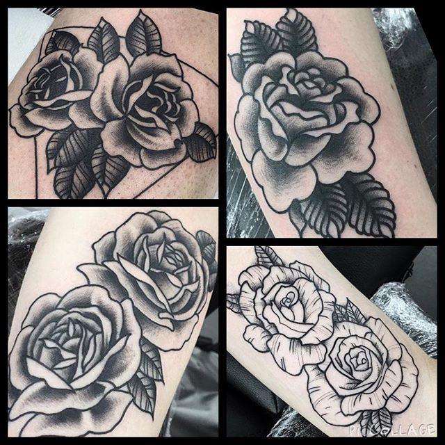 Ruiaridh&039;s roses! @rvltattoo @studioxiiigallery blackandgreytattoo boldlinetattoo whipshading blacktraditionaltattoo rosetattoo edinburghtattoostudio edinburghtattooartist