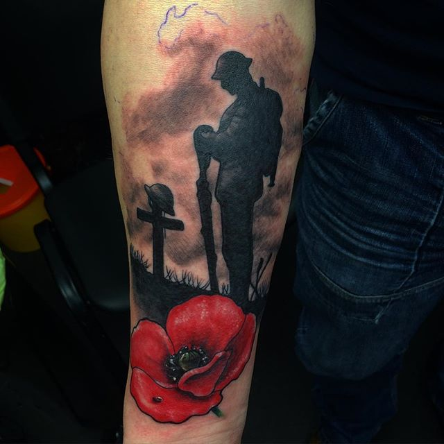 lest we forget pleasure doing this tattoo on a former soldier thanks gary tattoo bookings. Black Bedroom Furniture Sets. Home Design Ideas