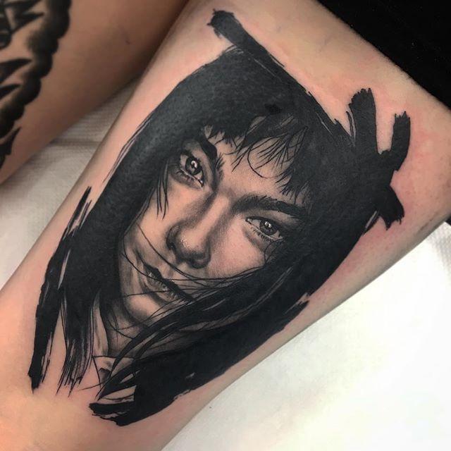 Tattooed A Portrait Of Bjork On Charlotte Last Night I Have So