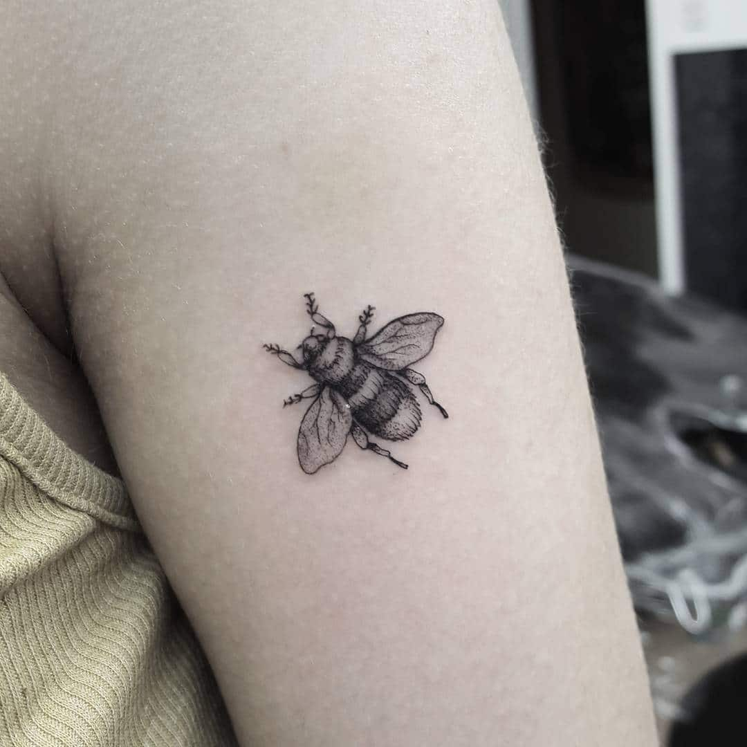 Would love to do more insects! Any insects!:) smalltattoo smalltattoos tinytattoo tattooart tattooartist tattooenergy tattoolife tattoolifestyle inked inkd tattooed girlswithtattoos beetattoo bee insect insects blackwork blackworkers singleneedle tattoosuppliesuk fineline graphicart dotwork dotworktattoo uktta uktattoo blackandgreytattoo edinburgh studioxiii @studioxiiigallery