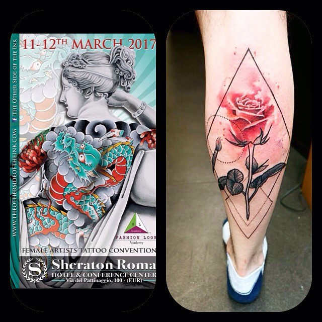 Hello !!!!!! I m so happy to be part of theothersideoftheink !!!! Please send me an email for appointments!!!!! naiomitattoo studioxiii tattoorome rometattooconvention watercolor watercolortattoo colorful girlytattoos femmininetattoo