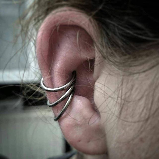 Another tough customer from yesterday!  studioxiii studioxiiigallery stxiii piercingsofinstagram piercing conchpiercing conch earpiercing cartilagepiercing