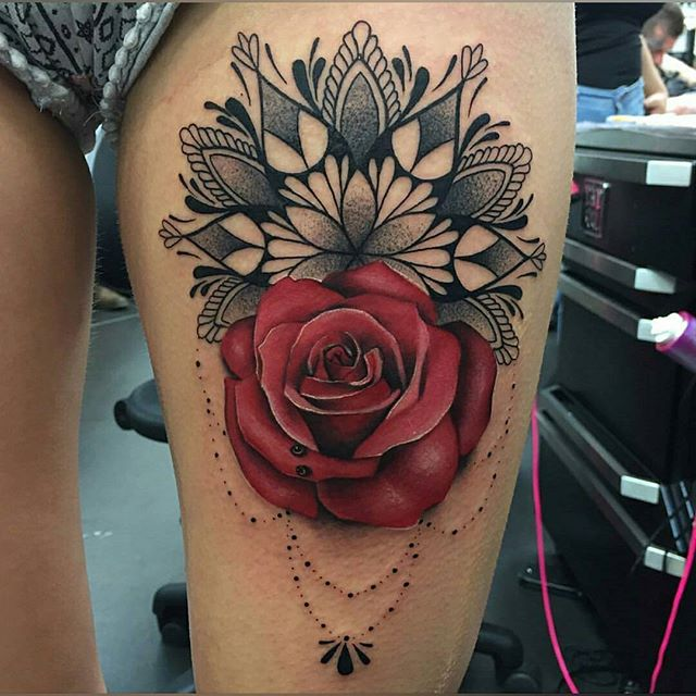 the wonderful has done this stunning rose mandala give her a follow for more beautiful work. Black Bedroom Furniture Sets. Home Design Ideas