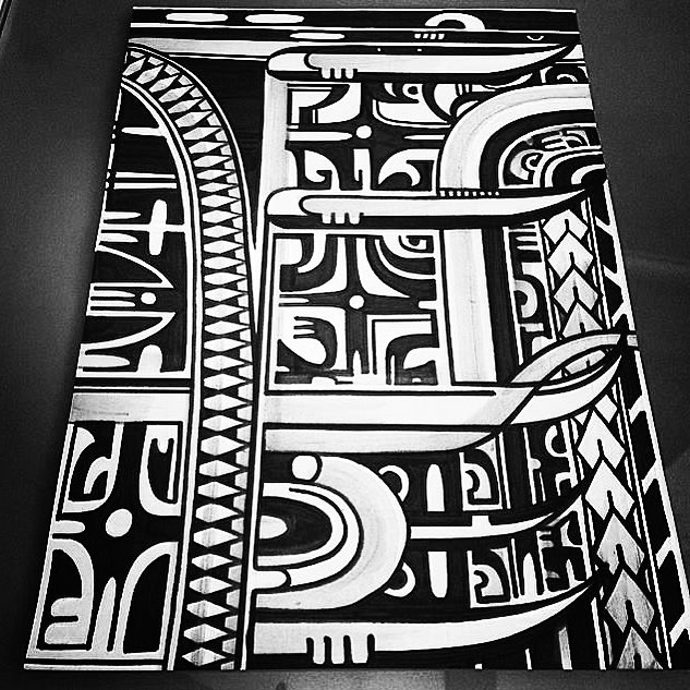Polynesian inspired design from a few years ago @studioxiiigallery studioxiii tribal