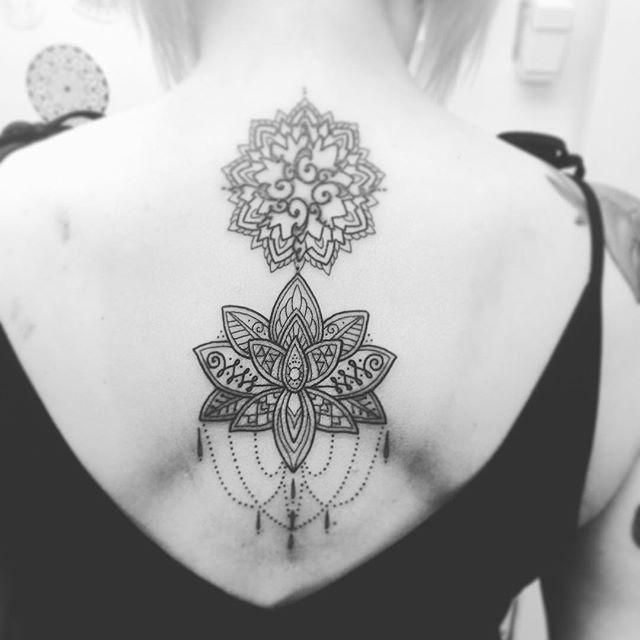 Added to the small worn tattoo Of Angela this afternoon @studioxiiigallery studioxiii marcdiamond mandalatattoo mandalalotus