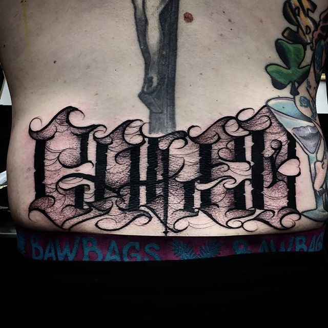 Another freehand Caleb lettering tattoo I got to do yesterday at studioxiii in Edinburgh Scotland more please :)