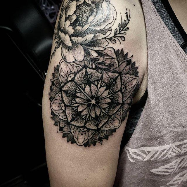 stipple mandala tattoo I made today at @reykjavikink in reykjavik Iceland thanks for looking :) studioxiii