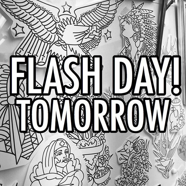 Flash day tomorrow (Friday) got hundreds of designs ready to go. First come first serve! @studioxiiigallery studioxiii