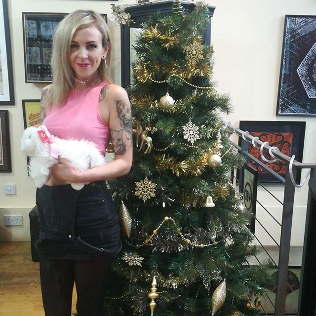 Christmas has arrived at the studio featuring @hurricanedanatattoos and her creepy cat.studioxiii tattoos tattooed tattooshop edinburgh scotland edinburghtattooartist edinburghtattoo girltattoo ladytattooers uktta christmastree christmas flash peng rupaul royalmile partycity whereyoubelong