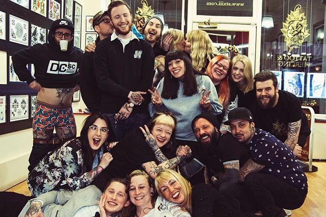 •This year has been incredibly amazing and I couldn't be happier than I am. So happy to be sharing my days with this crazy faces! M e r r y  C h r i s t m a sfrom uuuus @studioxiiigallery edinburgh edinburghtattoos scotland merrychristmas navidad xmas team studioxiii tattoo tattooed people love work family ink inked inkaddict picoftheday crazy madness tattooing tattooist tattoolove instatattoo follow dreams