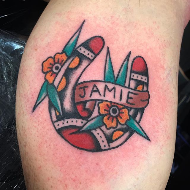 _________________ Done at @studioxiiigallery _________________ studioxiii BlackClawUK blackclawneedle tradtattoo tradworkers tradworkerssubmission radtrad oldlines besttradtattoos uktta vladbladirons ninemag @gap_filler_tattoos