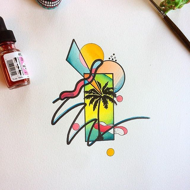 Tropical available from @spannerzdanny studioxiii flash edinburghtattoo edinburghtattooartist tattooshops flashwork sunshineonleith colourtattoos discoflash southpacific drawing painting tattoodaily tattoo_artwork sleeveideas palmtrees treetattoo royalmile