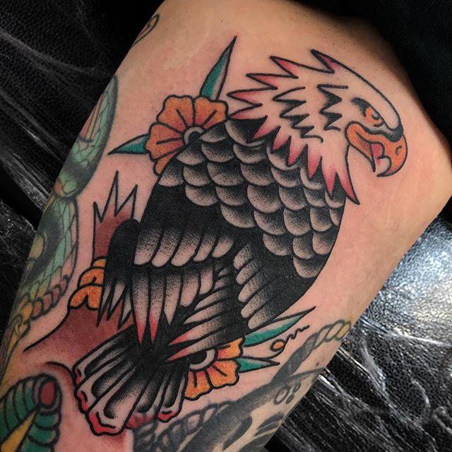 Majestic seagull _________________ Done at @studioxiiigallery _________________ studioxiii BlackClawUK blackclawneedle tradtattoo tradworkers tradworkerssubmission radtrad oldlines besttradtattoos uktta vladbladirons ninemag @gap_filler_tattoos