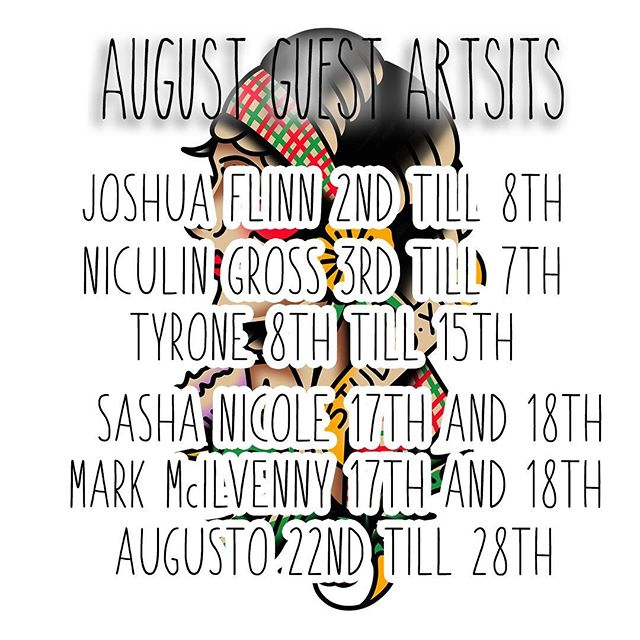 The fringe is upon us! So we've packed our month with an insane amount of guest artists!! We have @joshuaflinn @niculintattoo @tyrone.tattoo @sashanicoletattoo @mcilvennytattooer @augusto_tkg and @pedrovate69 (who's already fully booked, soz!) Message us directly for booking enquiries! ————— ————— tattoo tattoos traditionaltattoo boldwillhold blackworktattoo neotraditionaltattoo neotradtattoo watercolour  watercolourtattoo tribaltattoo flash tattooflash Edinburgh edinburghtattoo studioxiii tattoosuppliesuk