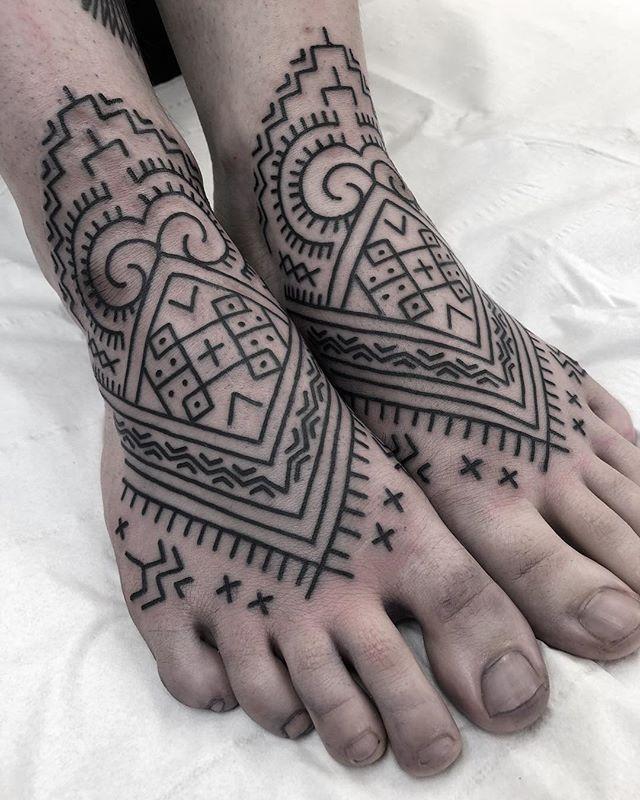 Kalinga feet for my little sister done @studioxiiigallery kalingatattoo tribaltattooers tribaltataucollective