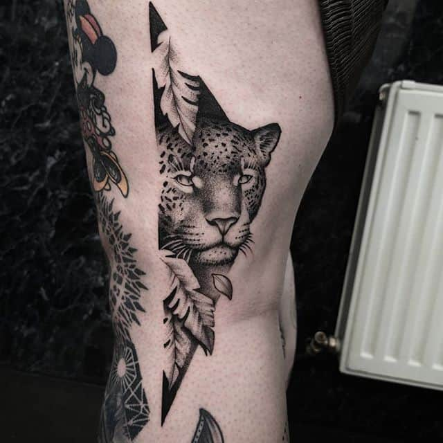 One from my flash! studioxiii leopard leopards dotworktattoo inkd inkdup skinart blackworknow blackworksubmission edinburgh uktattoo uktta uktattoo bigcat bigcats tattooideas fineline detailers detailed newtattoo wheretheytatt illustrativetattoo  contemporarytattooing moderntattoo portraittattoo @allegoryink @bishoprotary