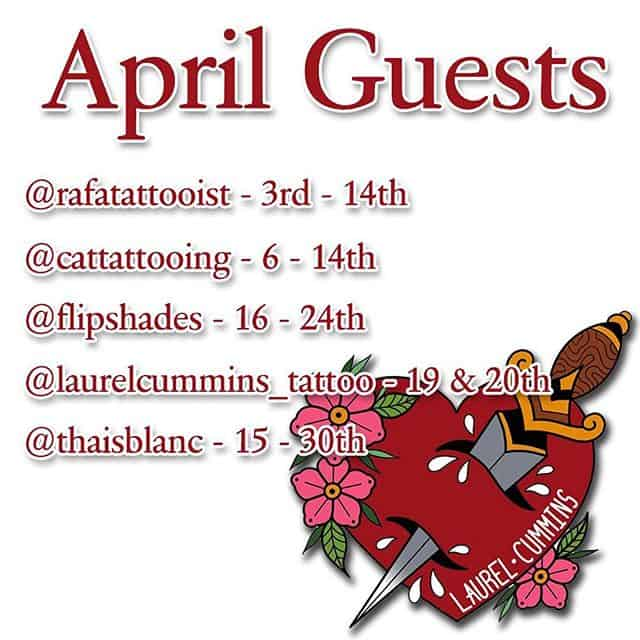 Pretty sweet update of April's guests with @rafatattooist @cattattooing @flipshades @laurelcummins_tattoo and @thaisblanc all coming to play! Come play with us! ———— tttism tattooworkers edinburghtattoo TAOT illustrativetattoo dotwork linetattoo darkartists blacktattooart blxckink btattooing uktta skinartmag ladytattooers studioxiii txttooing blackclaw inkstinct theblackmasters onlythedarkest blkttt waverlycolorco  blackworkerssubmission inkstinctsubmission tattoodo blacktattoomag @artof_black @blackclaw @blackworkershero @inkedmag @uktta @ninemag @theartoftattoos