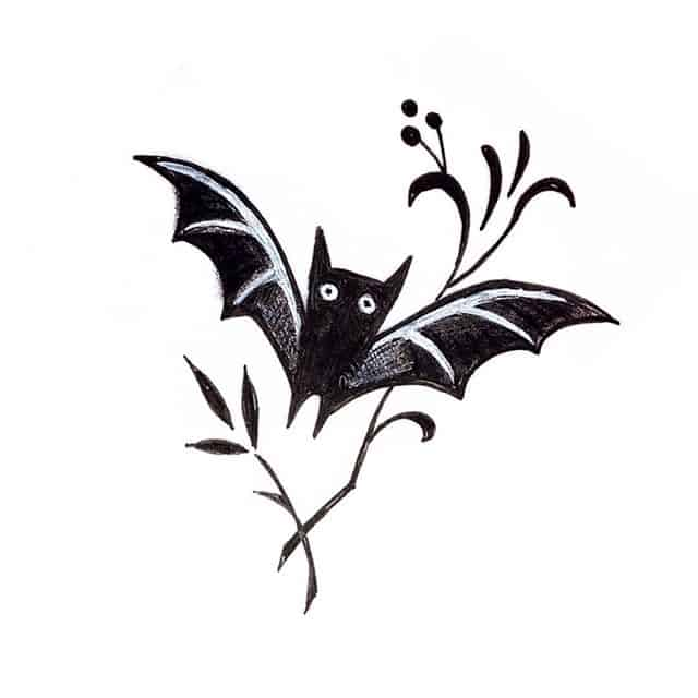 Another wee batty up for grabs. battoo kelpiebat studioxiii scottishtattoo scottishtattooer edinburghtattooer studioxiiigallery