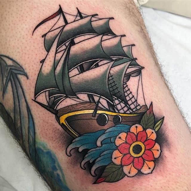Ship for Dino______________________________________edinburgh edinburghtattoos tattoo scotland tatted tattoos tattooed tattooer studioxiii tattooing tattooculture tattooart tattooshop tattooist ink inked inkedup instart instatattoo follow neotradeu neotradsub neotraditional picoftheday tattoo4life ship shiptattoo
