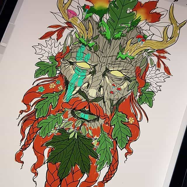 Oldie but a goodie had the pleasure of doing this green man a while back. Would love to do more forest spirits. Such a shame this guy never cam to get it finished ?. . . . . . . . татумосква татуировка татуировки татумастер scottland @lockdownneedle @bishoprotary @thesolidink @absupplies @hustlebutterdeluxe @eternalink @darkhorseshadingblack @marksender @workhorseirons moscowtattoo nature tattoos tattooidea tattooinspiration nztattoo blackwork tattoosnob neotraditionaltattoo neotraditionaltattoos new newschooltattoo newschool comic realism black backtattoos  newzealandtattoos sketch edinburghtattoo germanytattoo studioxiii freiburgtattoo tattooedinburgh