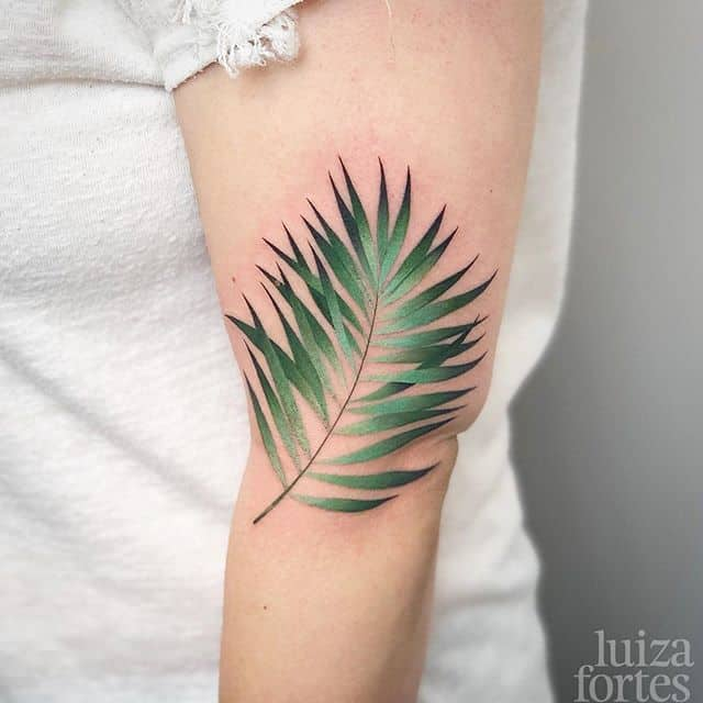 Palm leaf for Suzanne :) thank you!! Done at @studioxiiigallery