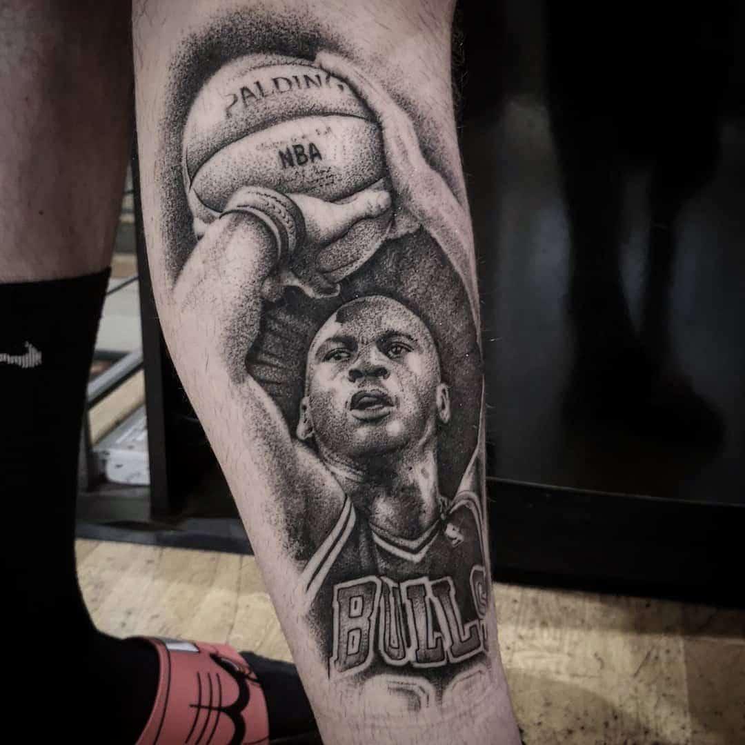 *repost* Healed Michael Jordan from a wee while ago. studioxiii michaeljordan nba besttattoos pointilism wheretheytatt edinburghtattoo scotlandtattoo chicagobulls chicagobullsnation dotworktattoo dotworker dotworkers inkd inkdup tattooedmen tattooedlife realistictattoo realismtattoos uktta tttism tatt tattoostyle basketballgames basketballtime