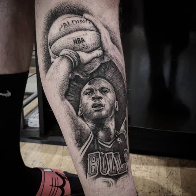 *repost* Healed Michael Jordan from a wee while ago. studioxiii michaeljordan nba besttattoos pointilism wheretheytatt edinburghtattoo scotlandtattoo chicagobulls chicagobullsnation dotworktattoo dotworker dotworkers inkd inkdup tattooedmen tattooedlife realistictattoo realismtattoos uktta tttism tatt tattoostyle basketballgames basketballtime