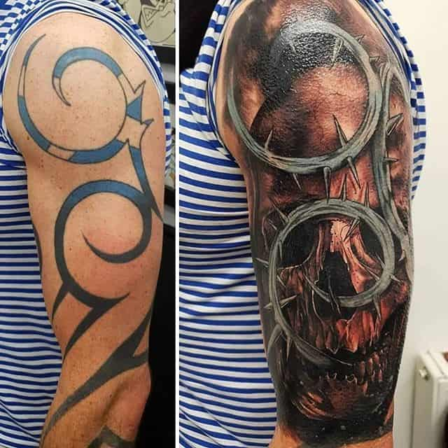 🔄 . . . . . . . tattoo coveruptattoo coverup skull tribal scotland wip studioxiii tattooartist tattooartistuk edinburgh ink tattoos inked tattooed picoftheday art love pic photooftheday photo blackandgrey instagram artist design tattooer