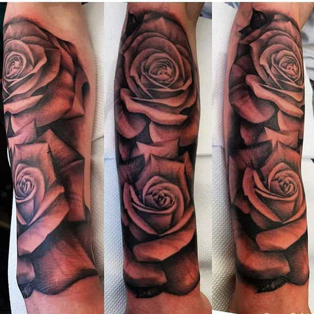 🥀 . . . . . . tattoo rose roses rosetattoo sleeve studioxiii tattooartist tattooartistuk edinburgh ink tattoos inked tattooed picoftheday art love pic photooftheday photo blackandgrey instagram artist design tattooer