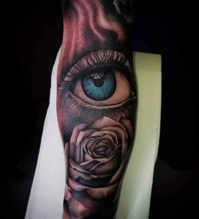 👁 . . . . . . tattoo eye eyetattoo rose studioxiii tattooartist tattooartistuk edinburgh ink tattoos inked tattooed picoftheday art love pic photooftheday photo blackandgrey instagram artist design tattooer