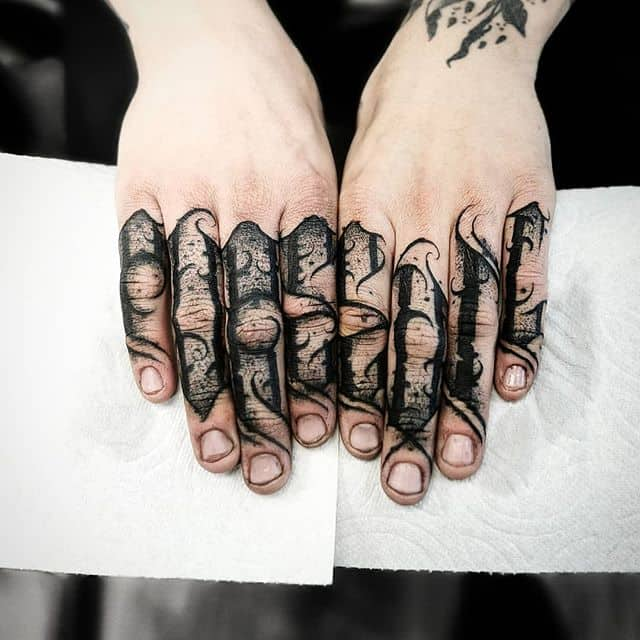 """pure evil"" blackletters done @dreambentstudios in Denver colorado . . . . . kingpintattoosupply studioxiii Denvertattoo broncos Denvertattoos miami coloradosprings boulder aspen vail rockies rockymountain tattoos stipple blackworkers tattoo blackwork lettering"