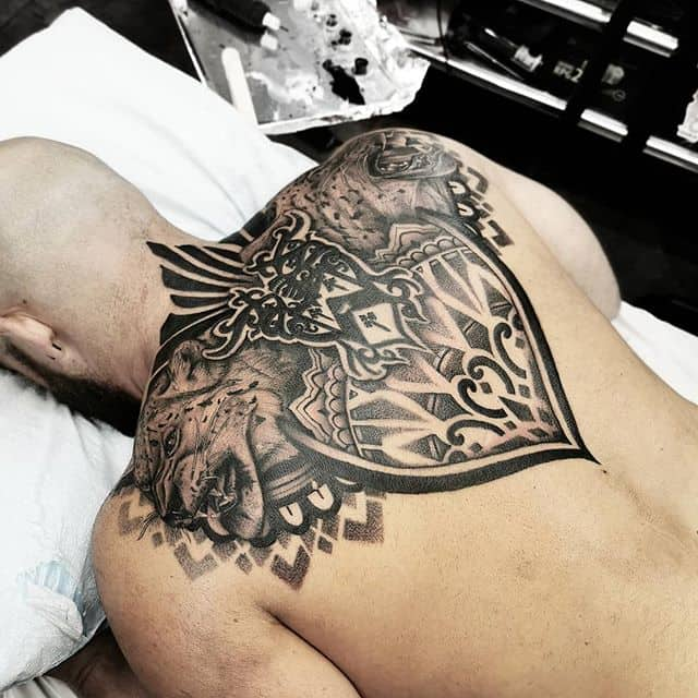 Was able to finish @mister.davenport back on my quickest trip to miami yet thanks again for coming in to finish these blackwork leopard and mandala tattoo over @miamiinklovehate . . . . . kingpintattoosupply studioxiii Denvertattoo broncos Denvertattoos Denver colorado coloradosprings boulder aspen vail rockies rockymountain tattoos stipple blackworkers