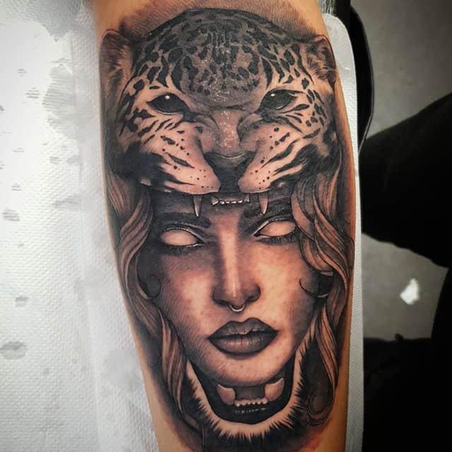 🐆 . . . . . . tattoo leopard headdress studioxiii tattooartist tattooartistuk edinburgh ink tattoos inked tattooed picoftheday art love pic photooftheday photo blackandgrey instagram artist design tattooer