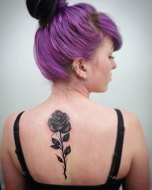On the prettier half 🥀 @fern_goldie . . . . . tattoo rose rosetattoo blackrose darkrose goth gothic studioxiii tattooartist tattooartistuk edinburgh ink tattoos inked tattooed picoftheday art love pic photooftheday photo blackandgrey design tattooer