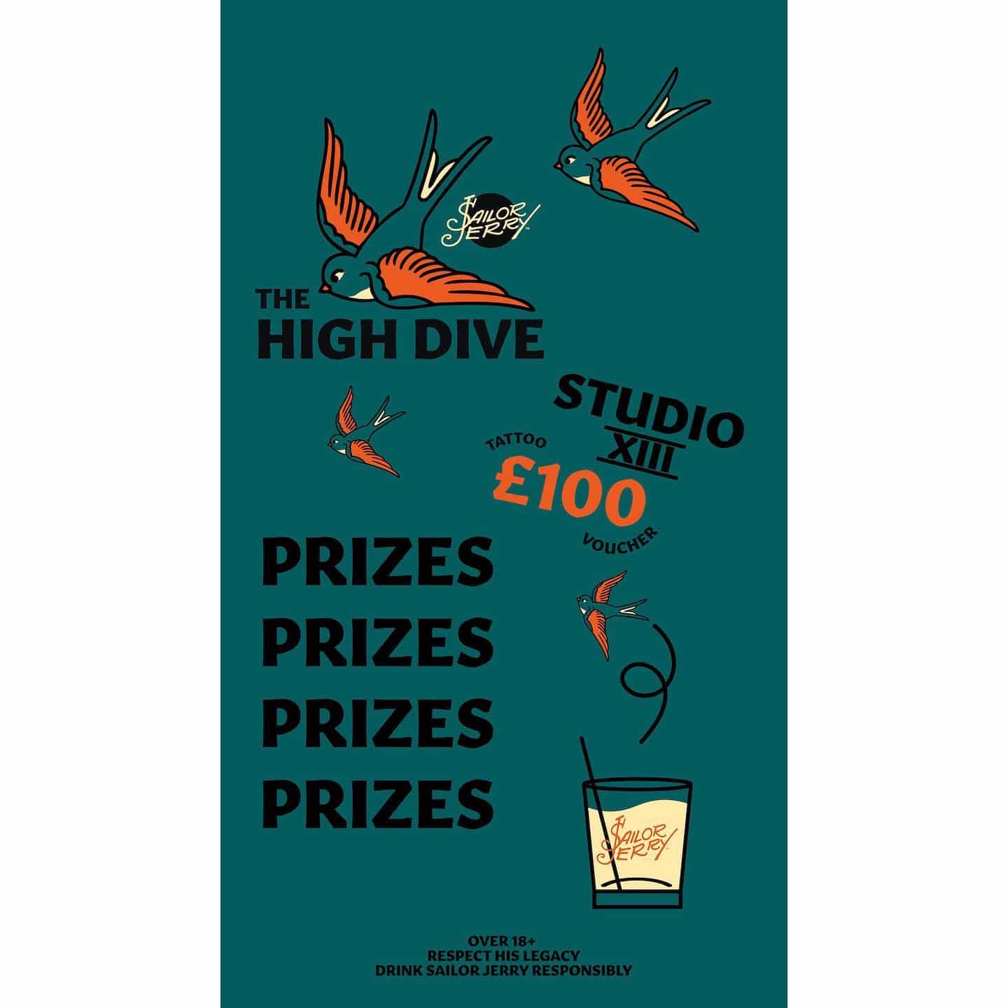 We have put a handful of free tattoo vouchers in the gumball machine at @the_high_dive ! To be in with win all you have to do is buy a sailor jerry drink to receive a token for the machine! It's that simple! The vouchers get you a palm sized @sailorjerry flash tattoo which we have thousands to pick from! Who's gonna win first!?!? ————— ————— uktattooartists uktattoo inked inkedmag skinart skinartmag traditionaltattoo tradworkers colourtattoos scotland edinburghtattoo edinburghlife scotlandtattoo uktta oldschooltattoo fineline cleanwork inkdup inkd skindeep performer besttattoos blackclaw girlswithtattoos uktattoosupplies blackclaw solidink sailorjerry scottishtattoo thescottishtattoo studioxiii @barber_dts @easytattoo_uk @eternalink @dynamiccolor @lockdownneedle @stencilstuff