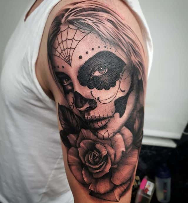 _____________________________ @studioxiiigallery tattoo dayofthedead rose rosetattoo edinburghtattooartist studioxiii tattooartist tattooartistuk edinburgh ink tattoos inked tattooed picoftheday art love pic photooftheday photo blackandgrey blackngrey instagram artist design tattooer