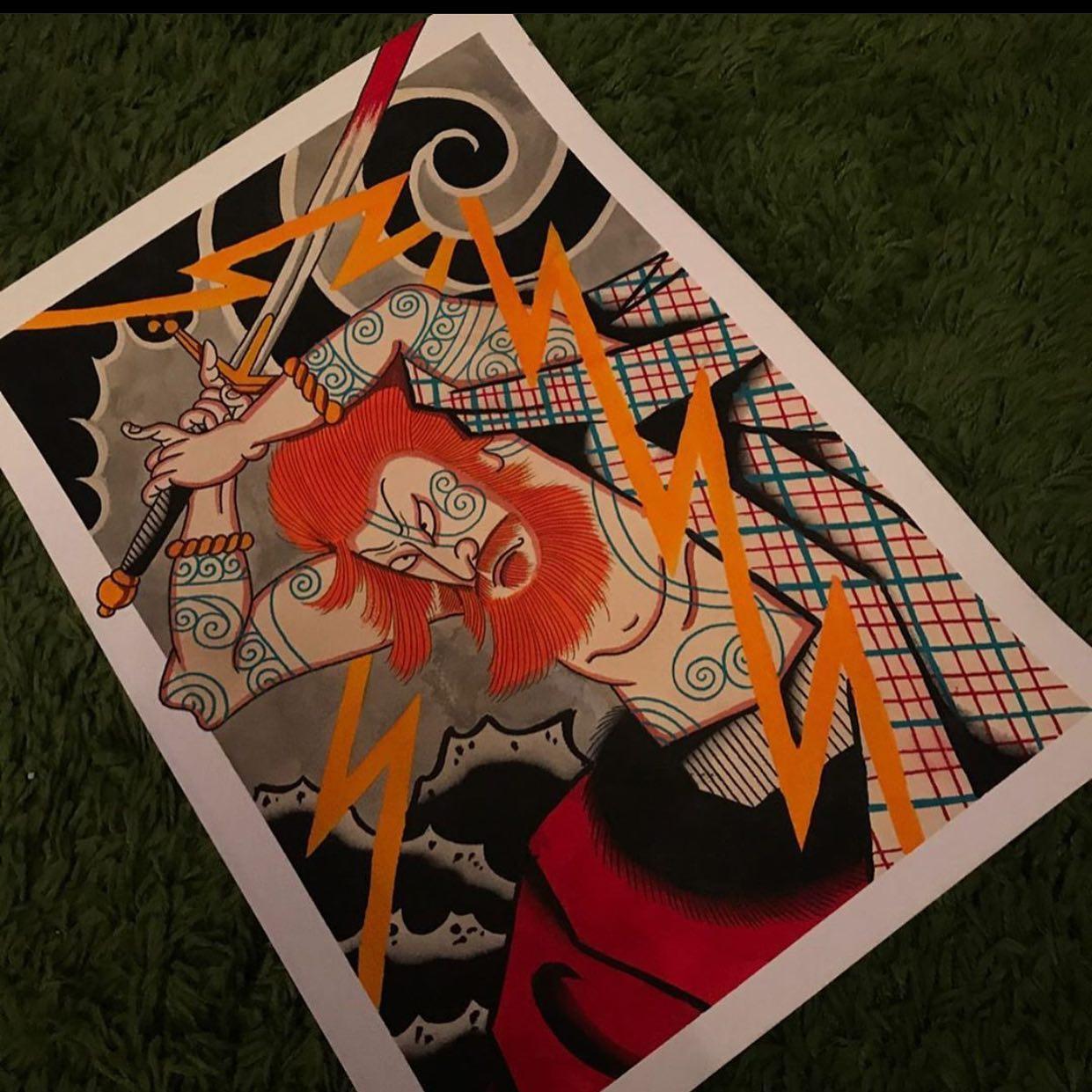 Ever considered mixing both Japanese tattooing and Scottish? @rvltattoo has your back. ————— ————— uktattooartists uktattoo inked inkedmag skinart skinartmag traditionaltattoo tradworkers colourtattoos scotland edinburghtattoo edinburghlife scotlandtattoo uktta oldschooltattoo fineline cleanwork inkdup inkd skindeep performer besttattoos blackclaw girlswithtattoos uktattoosupplies blackclaw solidink sailorjerry scottishtattoo thescottishtattoo studioxiii @barber_dts @easytattoo_uk @eternalink @dynamiccolor @lockdownneedle @stencilstuff