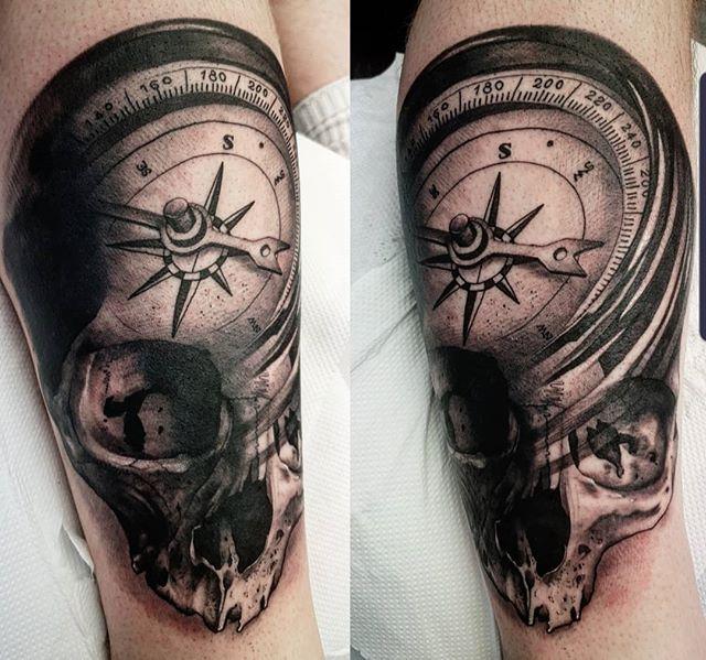 🧭 ___________________ tattoo travel skull edinburghtattooartist studioxiii tattooartist tattooartistuk edinburgh ink tattoos inked tattooed picoftheday art love pic photooftheday photo blackandgrey blackngrey instagram artist design tattooer
