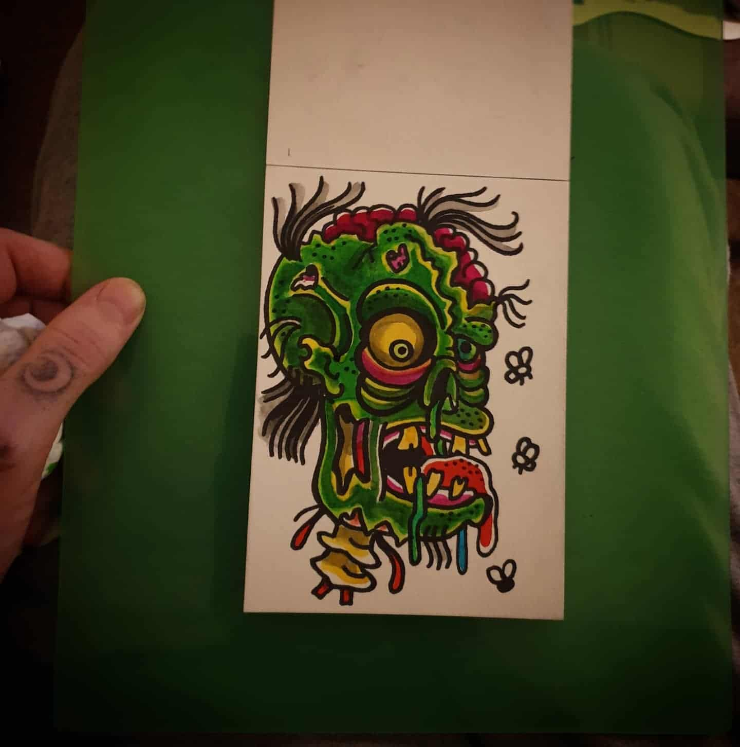 Did a tattoo on my mate Andy a couple years ago i enjoyed so much i did a wee painting inspired by it. miss you man .... also available to tattoo if/when this shit FUCKS OFF !!!! zombie zombieapocalypse zombiehead zombietattoo zombiepainting painting painteveryday draweveryday tattooart art artist tattooer lockdownart edinburghtattooer edinbugh scotland scottishtattooer studioxiii studioxiiigallery tattoosbyalanross alrosstattoo