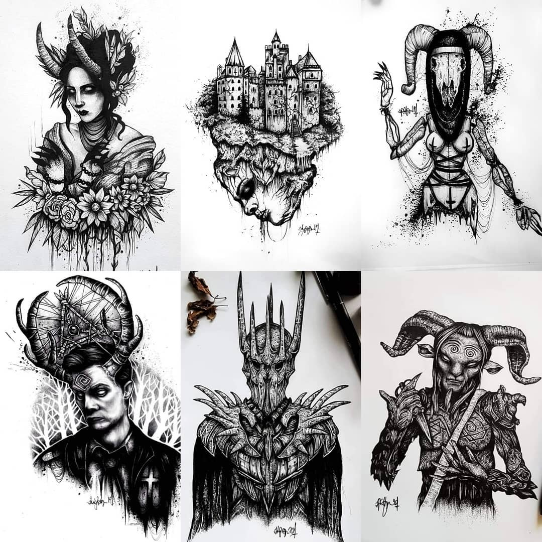 Swipe to see all available darkness 🦇🦇 to book them in (or any ideas you have!) email goatskullshirley@gmail.com 🖤 . . . . . . . . . . . . . . . . . . occultarcana artesobscurae btattooing flashworkers blackwork blackworkers blxckink darkartists darkart darkarts thedarkestwork onlyblackart onlythedarkest stabmegod blacktattoo metalhead blackmetal occult wiccac witchythings darkartistries edinburgh goth gothic studioxiii  @artesobscurae @occultarcana @thedarkestwork @onlythedarkest @black_tattoo_culture @darkartists @wiccac @darkartistries