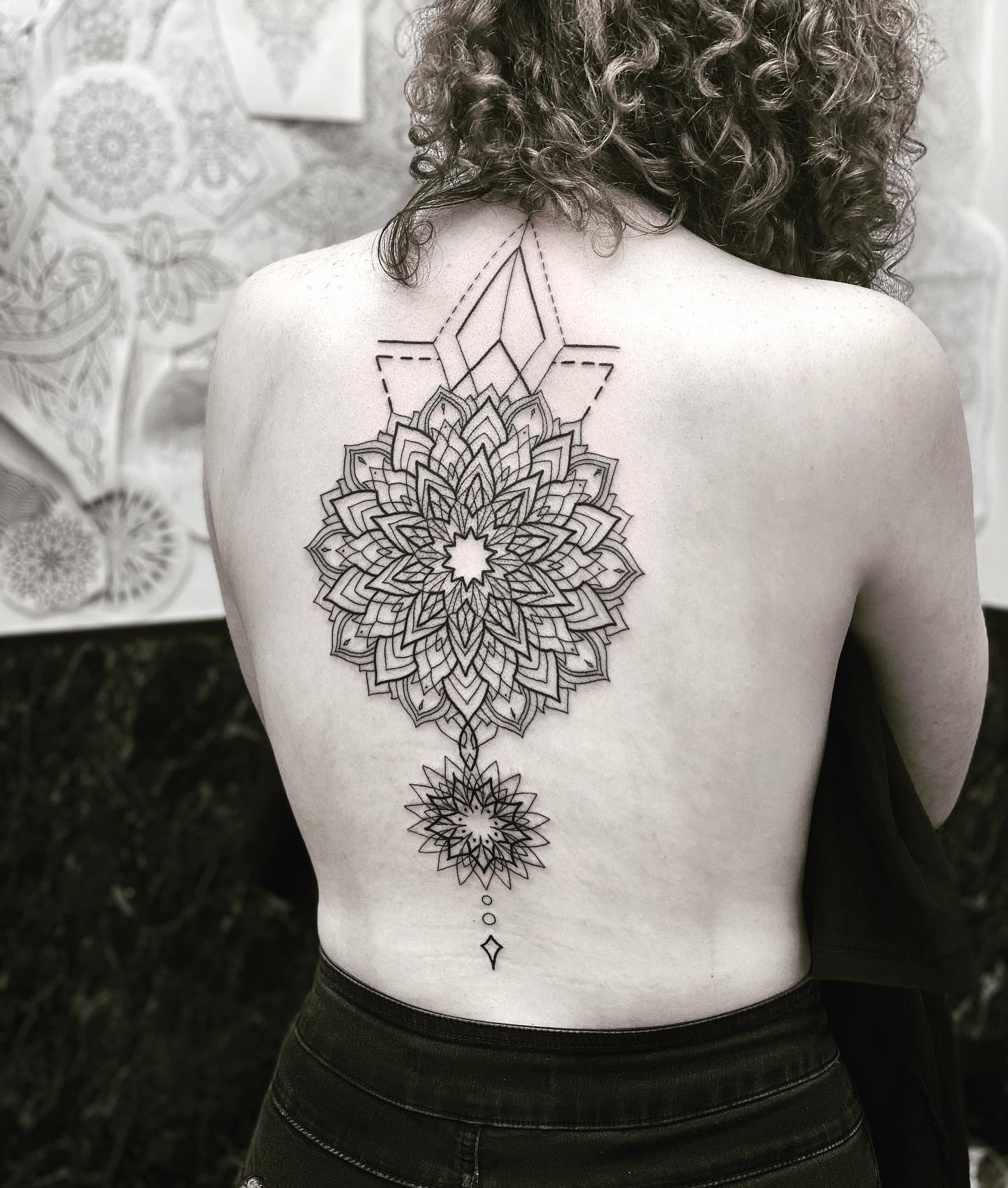 'The first time you do a thing is always exciting.' Thank Rebecca it was an absolute pleasure to do your first tattoo @studioxiiigallery @studioxiiigallery studioxiii lineworktattoo mandala mandalatattoo cirlcleoflife