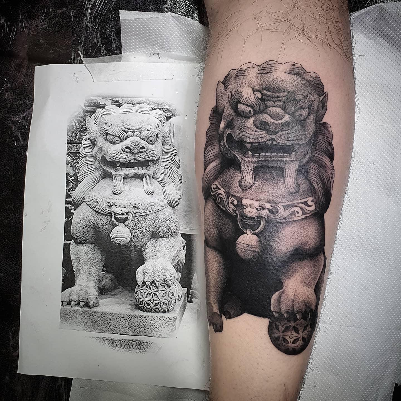 Foo Dawg  _______________________ @studioxiiigallery foodog chinese tattoo artdriven stencilstuff edinburghtattooartist studioxiii onlythedarkest tattooartist tattooartistuk edinburgh ink tattoos inked tattooed picoftheday art love pic photooftheday photo blackandgrey blackngrey instagram artist design tattooer  @totaltattoo totaltattoomagazine totaltattoo