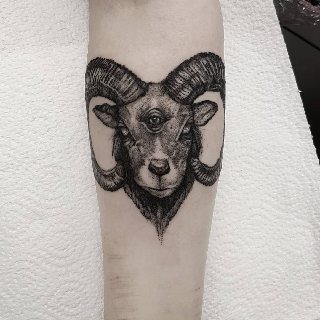 The Three Eyed Ram  Thanks Kaitlain 🖤 email goatskullshirley@gmail.com with your ideas (I&039;ll be answering emails tomorrow, thanks for your patience!) 🦇🦇🦇 . . . . . occultarcana artesobscurae btattooing flashworkers blackwork blackworkers blxckink darkartists darkart darkarts thedarkestwork onlyblackart onlythedarkest blacktattoo metalhead blackmetal occult witchcraft macabre edinburgh goth gothic studioxiii @artesobscurae @occultarcana @thedarkestwork @onlythedarkest @black_tattoo_culture @darkartists @wiccac