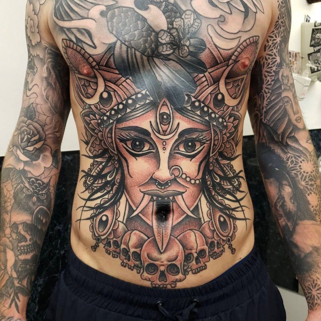 On a scale of one to ten how much does this amazing torso by tattoosbyalanross blow your mind ??🤯🤯🤯  We're still responding to all enquiries so get in touch if you're looking for a quote for when we reopen ✨  📩 - link in the bio 📲 tattoosbyalanross                                   totaltattoo barber_dts easytattoo_uk eternalink dynamiccolor lockdownneedle stencilstuff