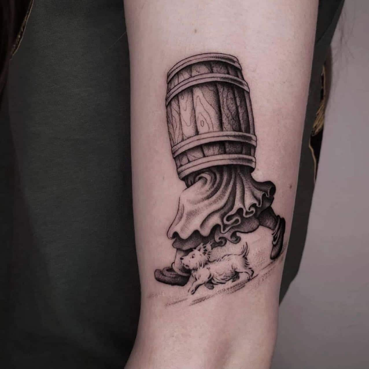 What else is there to do but reminisce over vik_b_tattooer 's amazing barrel people 🤩 • • • •