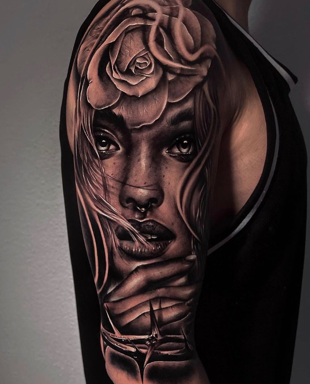Amazing piece by youngcaviartattoo   Omar is taking bookings for August so if you want to get tattooed get in touch via the enquiry form on our website! 💌  _____________________________________                                  barber_dts easytattoo_uk eternalink dynamiccolor totaltattoo stencilstuff