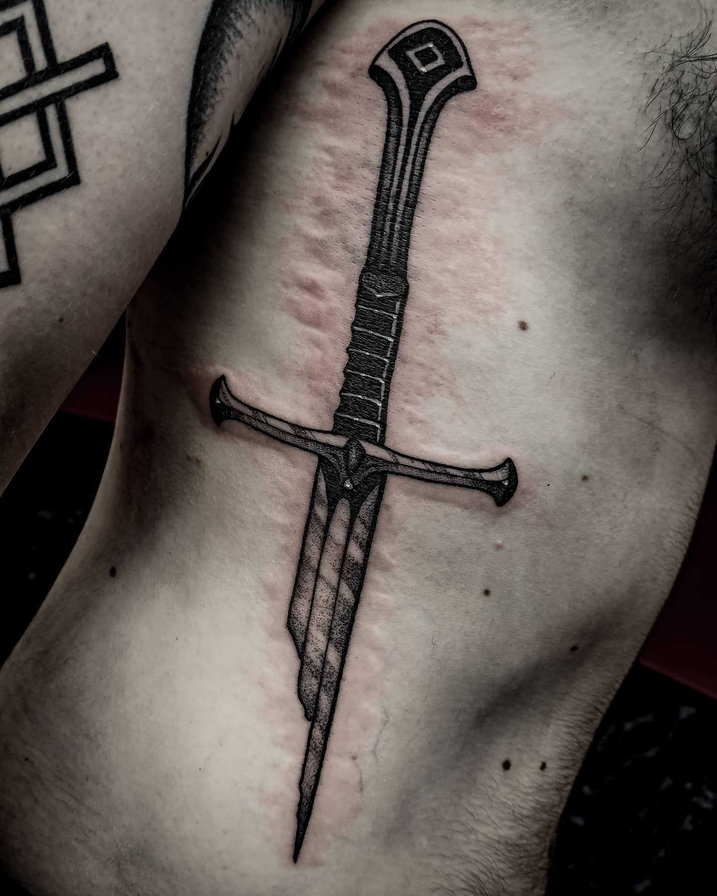 Narsil sword on the super champion liamdodds_96 Who survived by my inked sword  But we are alive and is all good 🤘💪 nobody died xd